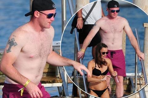 Wayne Rooney lo bung mo khi di nghi mat hinh anh