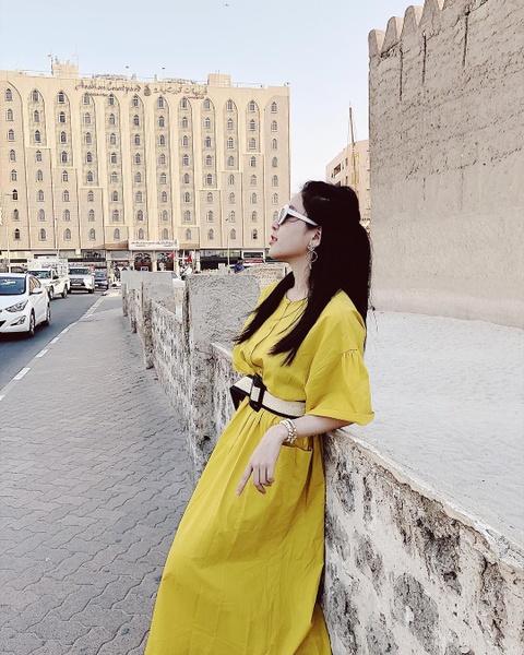'Hot girl co vu World Cup' Tram Anh sang chanh trong anh du lich Dubai hinh anh 12