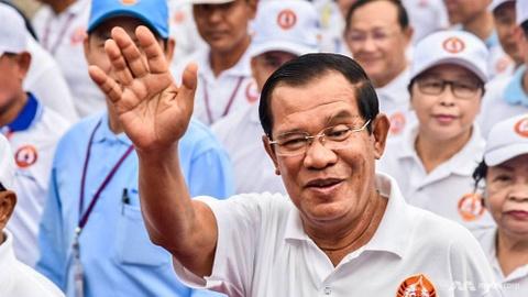 Dang cua Thu tuong Hun Sen chien thang tong tuyen cu Campuchia hinh anh