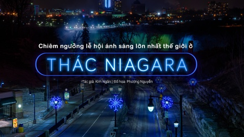Man trinh dien den sac huyen ao o le hoi Anh sang thac Niagara hinh anh 1