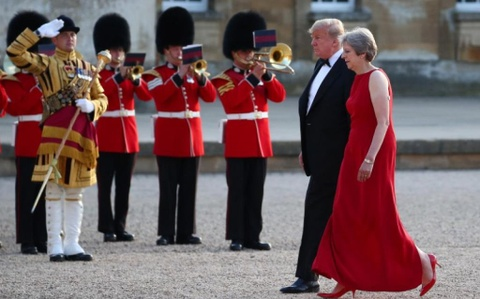 9 khoanh khac noi bat trong chuyen tham Anh cua ong Trump hinh anh 2