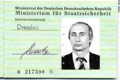 Tìm thấy thẻ điệp viên của ông Putin thời hoạt động tại Đức