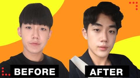 Đẹp trai như sao Hàn chỉ bằng cách thay đổi kiểu tóc hợp với mặt