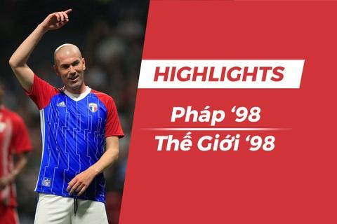 Highlights Doi Phap 98 vs 'All Star 98': Zidane da phat dep mat hinh anh