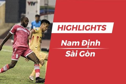 Highlights CLB Nam Dinh thang CLB Sai Gon trong tran 'chung ket nguoc' hinh anh