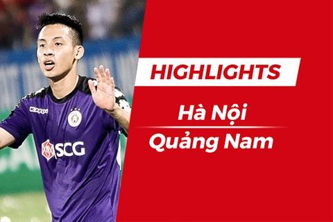 Highlights Chien thang kich tinh cua CLB Ha Noi truoc CLB Quang Nam hinh anh