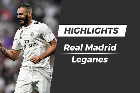 Highlights Real Madrid vs Leganes: Benzema lap cu dup hinh anh