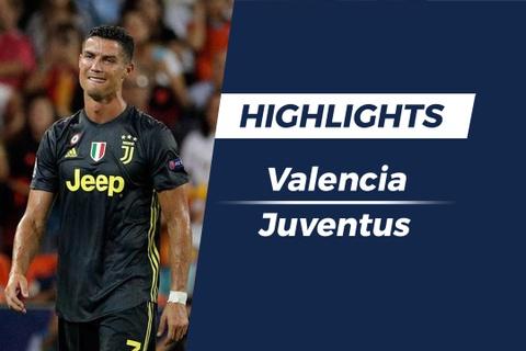 Highlights Juventus danh bai Valencia trong ngay Ronaldo nhan the do hinh anh