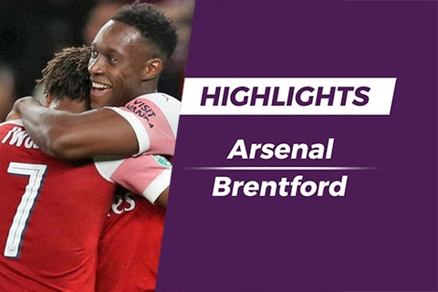 Highlights Welbeck lap cu dup, Arsenal thang de Brentford hinh anh