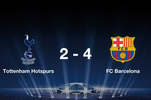 Highlights Tottenham 2-4 Barcelona: Messi lap cu dup hinh anh