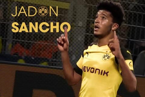 Jadon Sancho, sao tre 18 tuoi vuot mat Ronaldo, Messi la ai? hinh anh