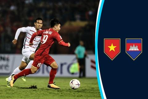 Cham diem Viet Nam vs Campuchia: Quang Hai hay nhat tran hinh anh