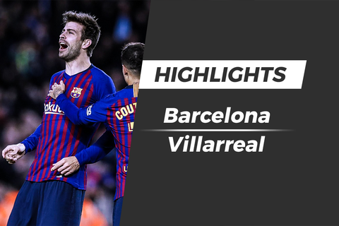 Highlights Barcelona - Villarreal: Pique ghi ban, Messi kien tao hinh anh
