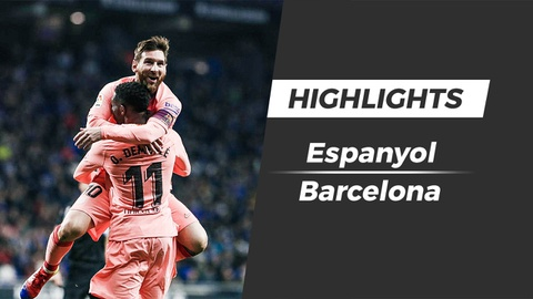 Highlights Espanyol 0-4 Barcelona: Messi ruc sang hinh anh