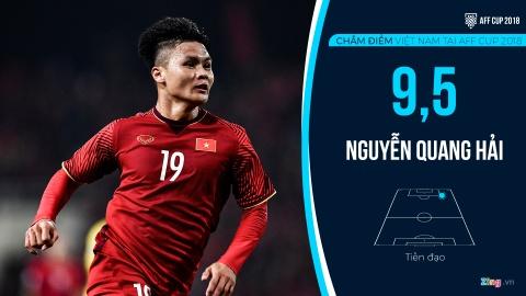 Cham diem tuyen Viet Nam tai AFF Cup: Quang Hai, Dinh Trong hay nhat hinh anh 12