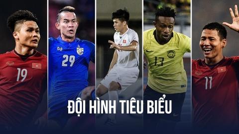 Việt Nam áp đảo trong đội hình tiêu biểu AFF Cup 2018