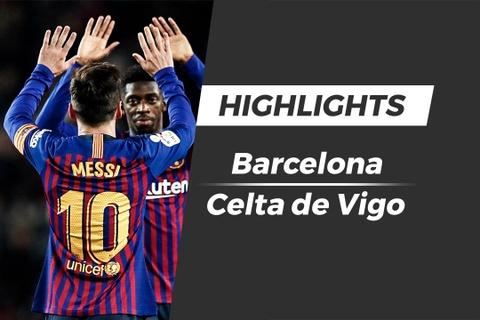 Highlights Barcelona 2-0 Celta de Vigo: Giu vung ngoi dau bang hinh anh
