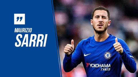 HLV Sarri vi Hazard quan trong nhu Ronaldo, Messi hinh anh