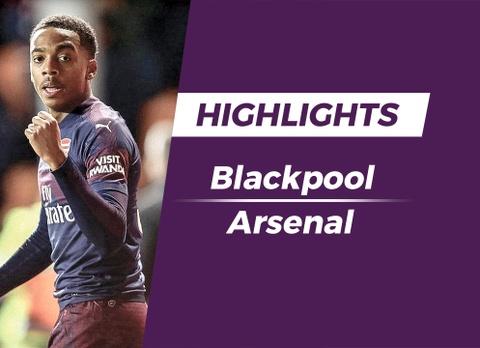 Highlights Blackpool 0-3 Arsenal hinh anh