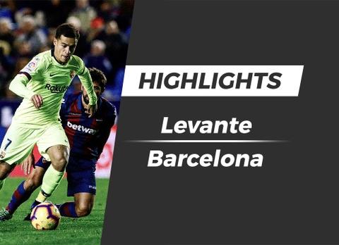 Highlights Levante 2-1 Barcelona hinh anh