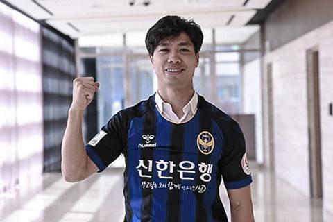 Cong Phuong di bong va ghi ban trong tran ra mat Incheon United hinh anh