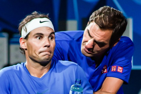 Phan ung cua Nadal khi bat kip ky luc cua Federer hinh anh