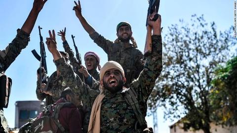 Thanh tri lon nhat cua IS o Syria duoc giai phong hinh anh