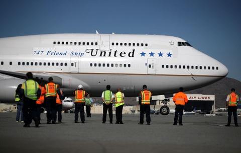 Boeing 747 sap co chuyen bay thuong mai cuoi cung o My hinh anh
