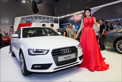 A hau Duong Tu Anh lam dai su Audi A4 hinh anh