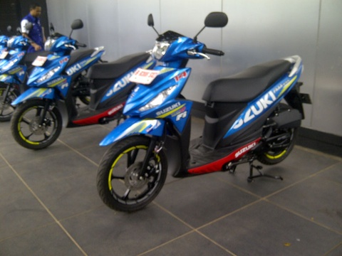 Xe tay ga Suzuki Address them phien ban MotoGP hinh anh
