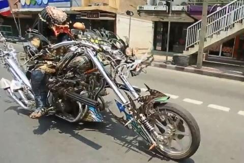 Harley phong cach nguoi ngoai hanh tinh cua biker Thai Lan hinh anh