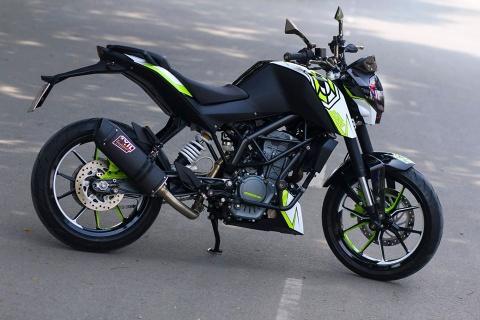 KTM Duke 200 son mau doc o Sai Gon hinh anh