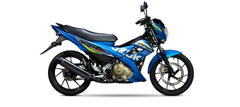 Suzuki Raider R150 them mau xanh MotoGP, gia khong doi hinh anh