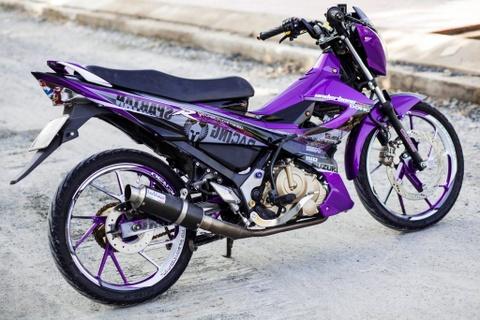 Suzuki Raider R150 do sac tim cua biker Long An hinh anh
