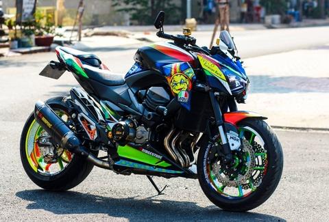 Kawasaki Z800 len do choi hang hieu cua biker An Giang hinh anh