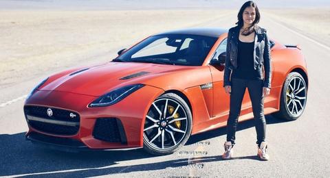 Nu ngoi sao Fast & Furious thu toc do Jaguar F-Type SVR hinh anh