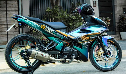 Exciter 150 mau doc cua biker Tien Giang hinh anh