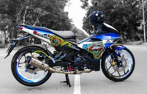 Exciter 150 do cap mam R3 cua biker Tra Vinh hinh anh