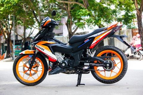 Honda Winner 150 son tem dau dan ao cua biker Bien Hoa hinh anh