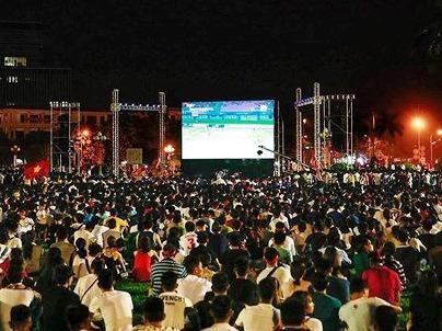Lắp màn hình LED cỡ lớn ở quảng trường Hồ Chí Minh để cổ vũ tuyển VN