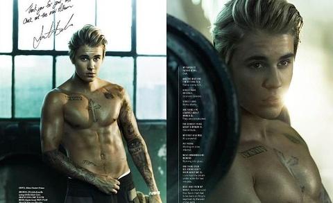 Hau truong buoi chup anh bia tap chi Cosmopolitan cua Justin Bieber hinh anh