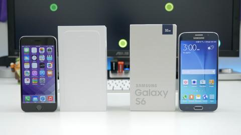 iPhone 6 Plus va Galaxy S6 Edge so ke trong top 10 thang 4 hinh anh