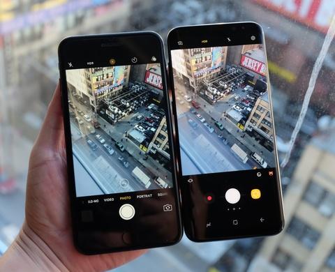 Galaxy S8+ so dang iPhone 7 Plus: Nho hon du man hinh lon hinh anh 4