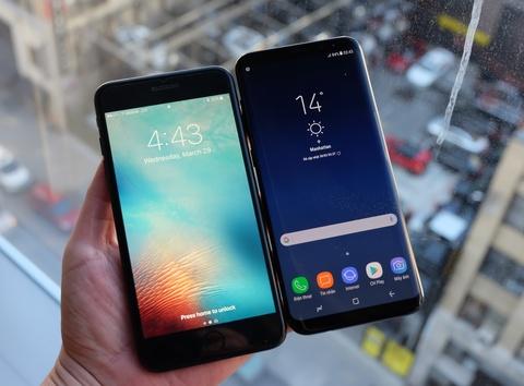 Galaxy S8+ so dang iPhone 7 Plus: Nho hon du man hinh lon hinh anh 6