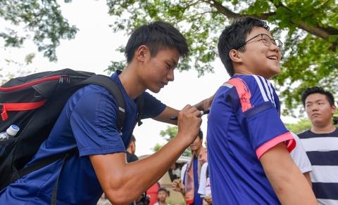 Cau thu Nhat Ban thoai mai truoc dai chien voi Olympic Viet Nam hinh anh 11