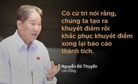 10 phat ngon an tuong tai Quoc hoi hinh anh 4 Sau khi nói về các số liệu kinh tế do Chính phủ cung cấp