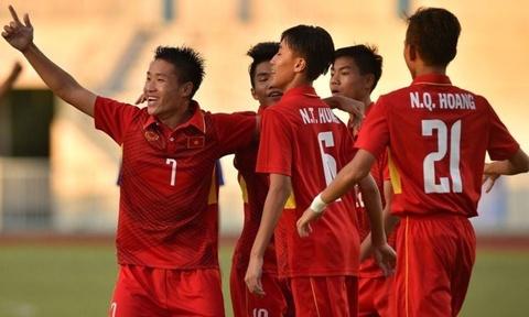 U16 Viet Nam de bep U16 Campuchia 5-2 trong the tran mat nguoi hinh anh