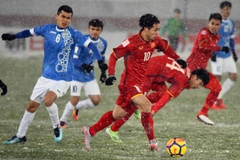 Tran 'dai chien tren tuyet' giua U23 Viet Nam va U23 Uzbekistan hinh anh 16