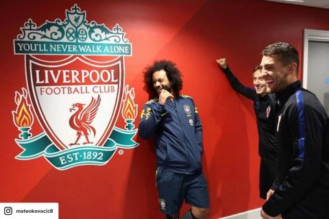 Dan sao Real cuoi nhao Liverpool truoc tran giao huu Brazil - Croatia hinh anh