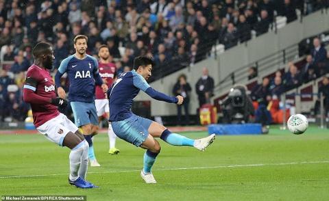 Son Heung-min lap cu dup, Tottenham hen Arsenal o tu ket Carabao Cup hinh anh 3